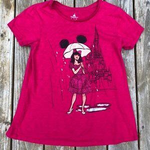 Disney parks pink sparkly extra large castle top